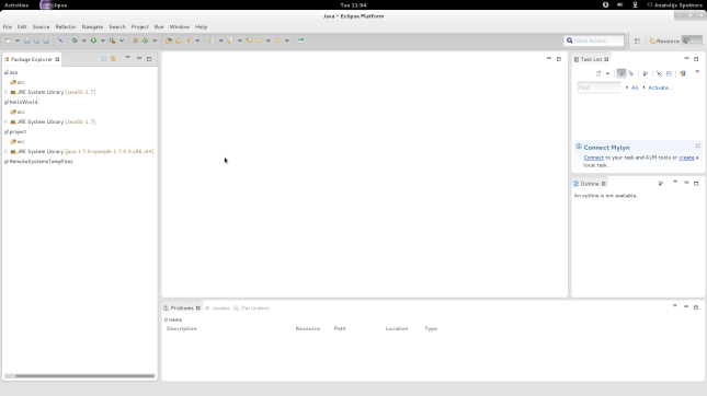 Eclipse screenshot on GTK+3