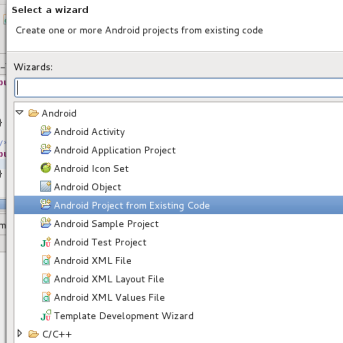 Android Development_tools_create_project